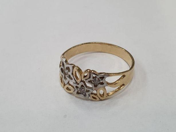 Przepiękny złoty pierścionek damski/ 585/ 2.87 gram/ R22/ sklep Gdynia