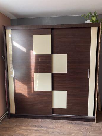 Szafa dwudrzwiowa drzwi przesuwne 204x215x60 REZERWACJA