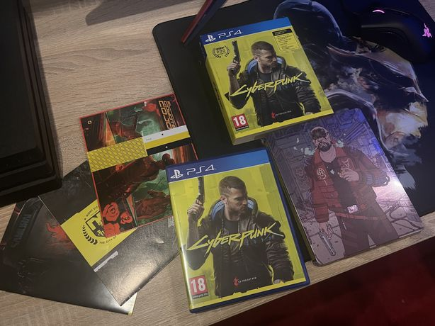 PS4 Cyberpunk 2077 PlayStation 4 jak nowa! + steelbook