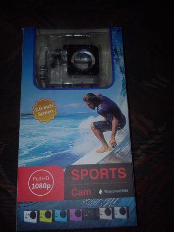 Kamerka sportowa full HD 1080p + akcesoria Nowa