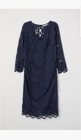 Nowa Sukienka ciążowa H&M MAMA roz. M granatowa
