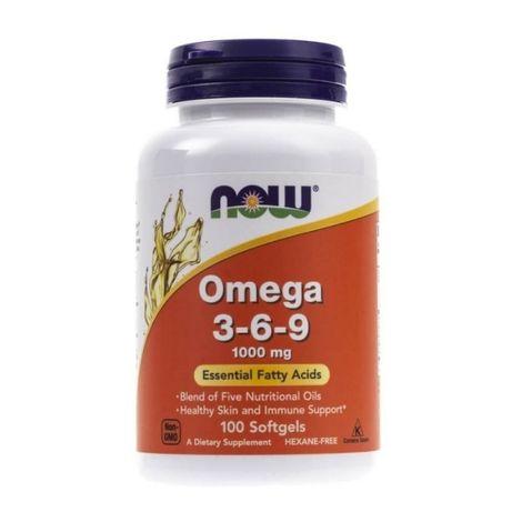 Omega 3-6-9, 1000mg - 100 softgel NOW Foods