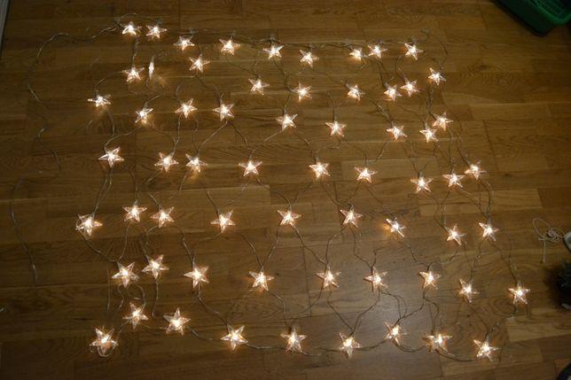 гирлянда\сетка\ окно\звезды\светильник\ночник\звездное небо