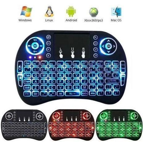 Беспроводная мини Клавиатура с Подсветкой Rii mini i8 дляТелефона