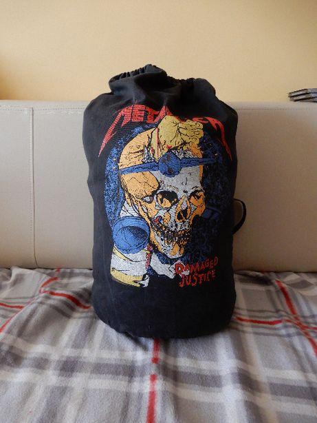Metallica - bardzo unikatowy, solidny i duży worek na ramię z lat 90'