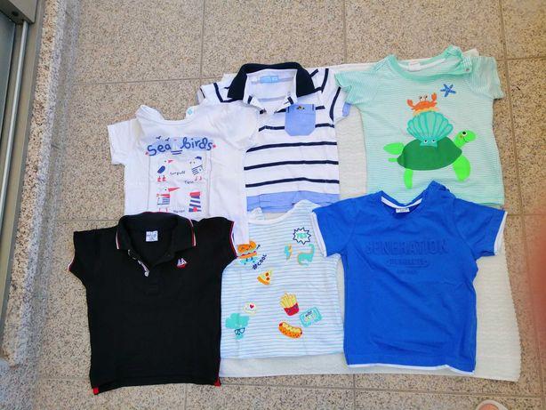 T-shirts de manga curta para bebé