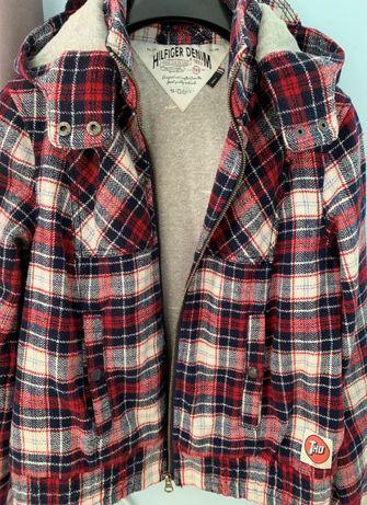 шерстяная куртка Tommy Hilfiger шотландская клетка размер S