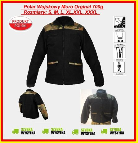 Bluza Moro Polar wojskowy S, M, L, XL, XXL, XXXL