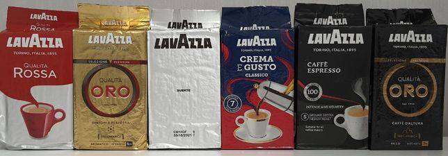 Кофе молотый Lavazza Oro, Crema e Gusto, Suerte, Rosso кава лаваца