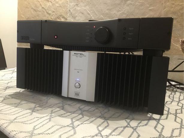Conjunto Pré/Amplificador (Rotel RB1080-Rega Cursa)