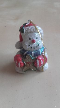 figurka mały bałwanek, ozdoba wisząca, Boże Narodzenie