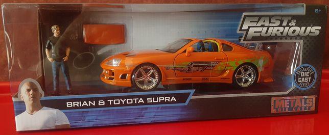 Toyota supra fast furious mais personagem Brian escala 1/24