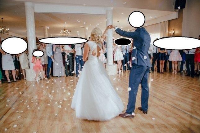 biała suknia ślubna 36/38 + dodatki