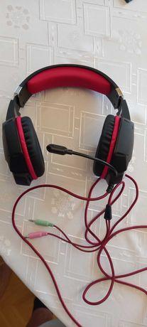 słuchawki z mikrofonem Tracer DRAGON RED