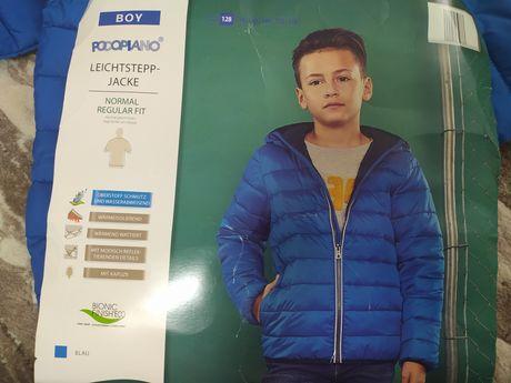 Куртка осіння, Водонепроникна, термоізоляція розмір 128сірі, сині
