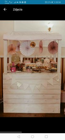 Słodki stół candy bar ślub wesele komunia roczek chrzciny
