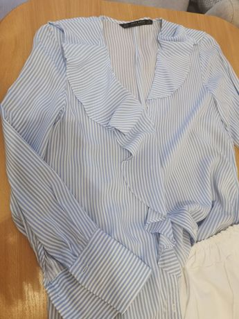 Koszula z falbanką Zara xs
