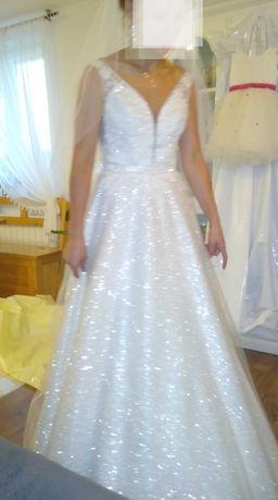 Suknia ślubna błyszcząca kolekcja 2021