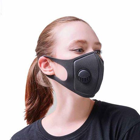 Многоразовая маска Питта с клапаном. Респиратор. Маска защитная