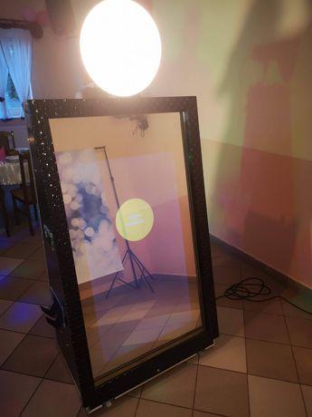 Fotobudka Fotolustro, ciężki dym, tablica interaktywna Knoocker