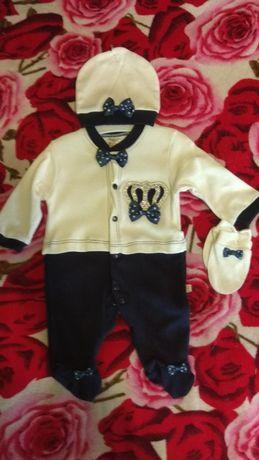Нарядный костюм-человечек для новорождённого