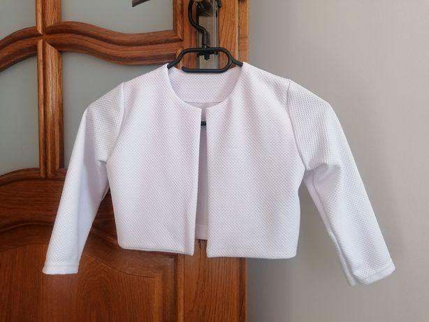 Białe bolerko do sukienki rozmiar 134