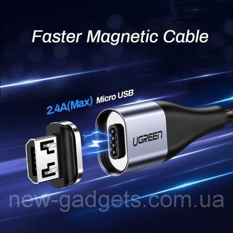 Ugreen Magnetic USB Cable кабель магнитный Micro USB Type-C Lightning