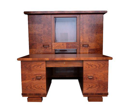 Rarytas! Komplet gabinetowy ART DECO biurko i biblioteka PALISANDER
