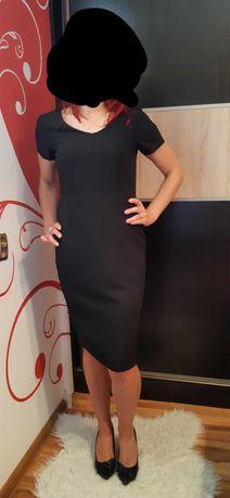 sukienka midi czarnA S