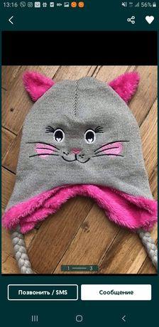 Зимняя шапка шапочка для девочки тополино Topolino