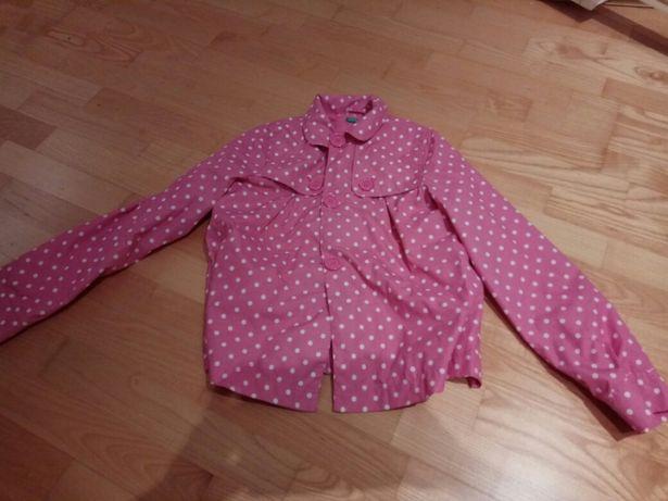 Плащ дождивик розовый в горошек для девочки beneton
