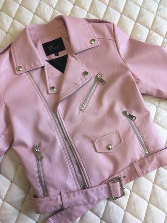 Куртка косуха, розовая