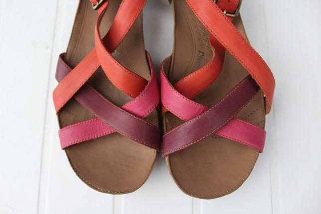 skórzane sandały Clarks rozmiar 42 pomarańcz