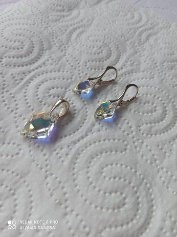 Kolczyki srebrne kryształ