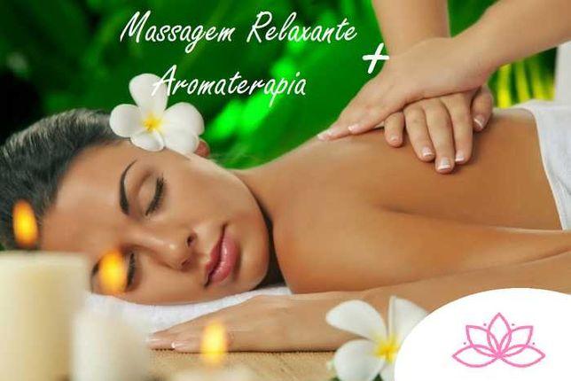 Massagem Relaxamento/Terapêutica com Aromaterapia