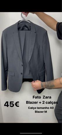 Fato Zara cinzento