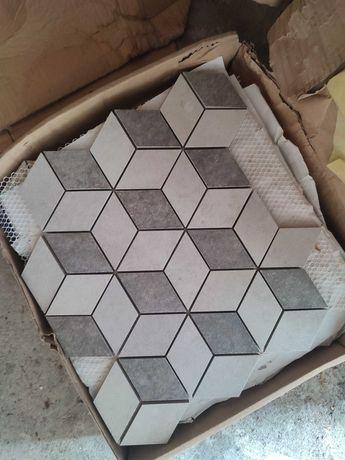 Mozaika Gresowa Romb 3D odcienie szarości Lappato