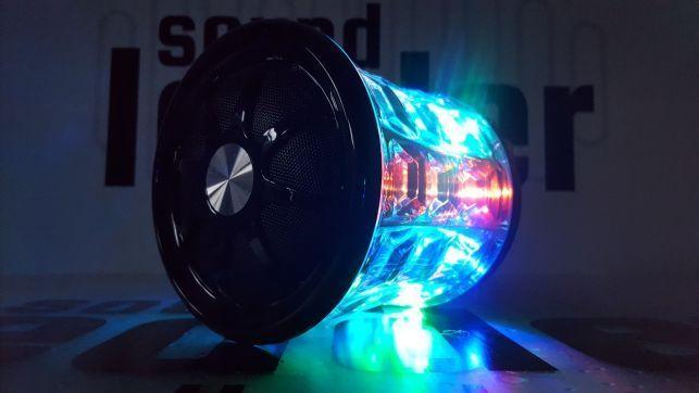 Głośnik bezprzewodowy bluetooth kula dyskotekowa led radioodtwarzacz