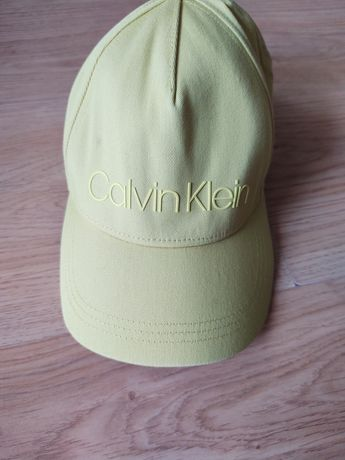 Calvin Clain oryginalna czapka kanarkowa