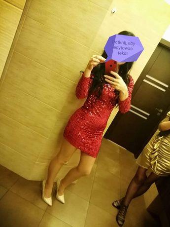Sukienka asymetryczna cekini