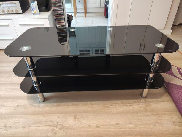 Szklany stolik rtv pod telewizor