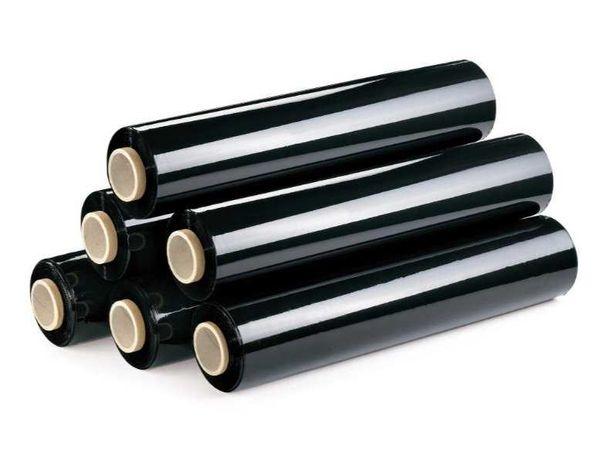 Folia stretch Powerplus czarna 17 micronów odpowiednik 3kg.