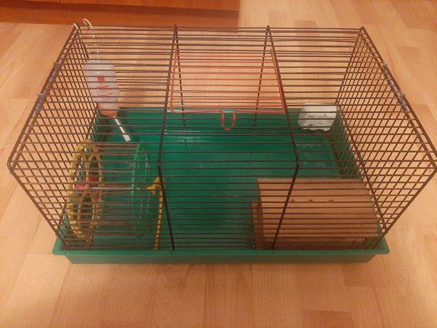 Klatka dla chomika/myszki, poidełko, domek, kołowrotek, stan dobry