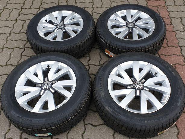"""NOWE Koła zimowe Alu 16"""" VW Passat B8 T-Roc 5x112 215/60/16 Oryginał"""