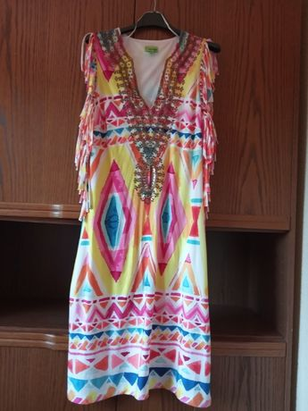 kolorowa sukienka k - design