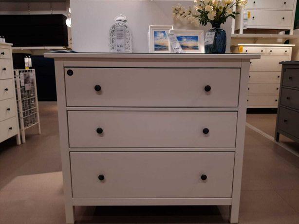 Ikea Hemnes komoda biała bejca 108 cm 3 szuflady nowa