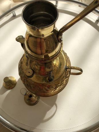 Медная турка для кофе с горелкой Ручной работы