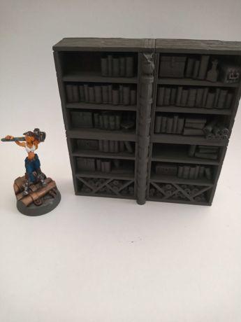 Regał biblioteczny akcesoria RPG, makieta wh, teren do gry bitewne D&D