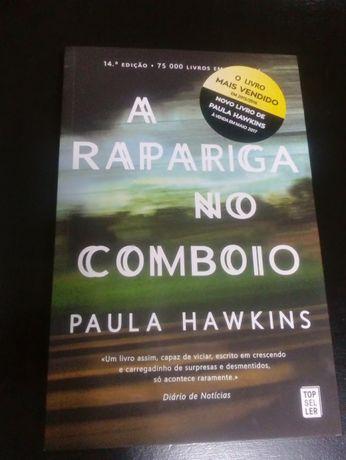 """Livro best seller """"A rapariga no comboio"""" de Paula Hawkins, novo"""