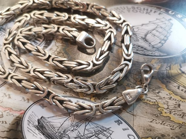 DD615 POTĘŻNY srebrny łańcuszek SPLOT KRÓLEWSKI, srebro 925